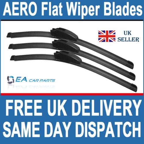 TOYOTA HI ACE 1995-2001 FRONT /& REAR   EA AERO Flat Wiper Blades 21-21-18