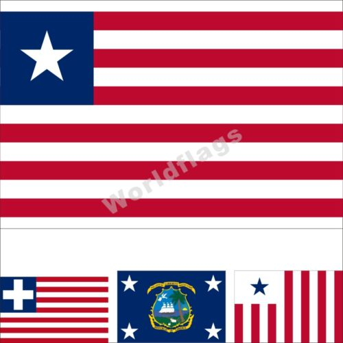Liberia Flag 3X5FT Historical State City Army Customs Presidential  Banner