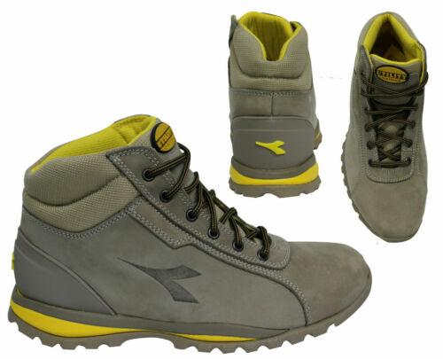 Diadora Glove H O3 HRO SRA Hi Tops Mens Grey Leather Boots 161382 01 75013 X