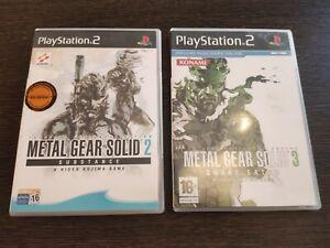 Metal-Gear-Solid-2-Metal-Gear-Solid-3-PLAYSTATION-2-Sony-Ps2-Pal-Espagne