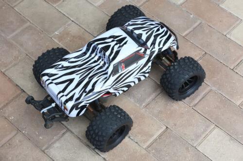 Stampede 1//10 Truck 3660 3619 3658 Custom Body Zebra Style for Traxxas Bigfoot