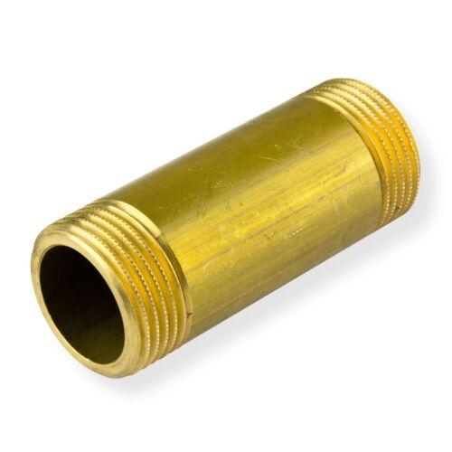 """Rohrdoppelnippel 1/"""" Zoll x 80mm DN25 Messing Langnippel Rohrnippel Gewindenippel"""