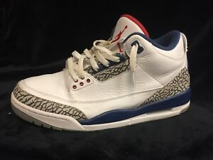 "82f2aed009ec Nike Air Jordan 3 Retro OG ""True Blue"" (2016) Men s Size 10.5"