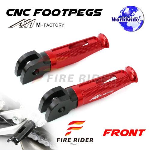R 07-14 09 10 11 FRW CNC Billet Front Footpegs For Triumph Street Triple 675