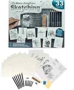 Lernen-Zeichnen-Wild-Tiere-Kuenstler-Zeichnen-Malen-Stifte-Komplettsatz-AME-110
