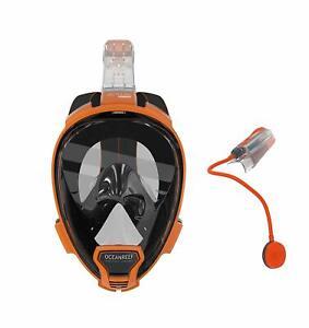 Ocean Reef Aria QR+ w/ Snorkie Talkie Mask Set Diving, Snorkeling Orange