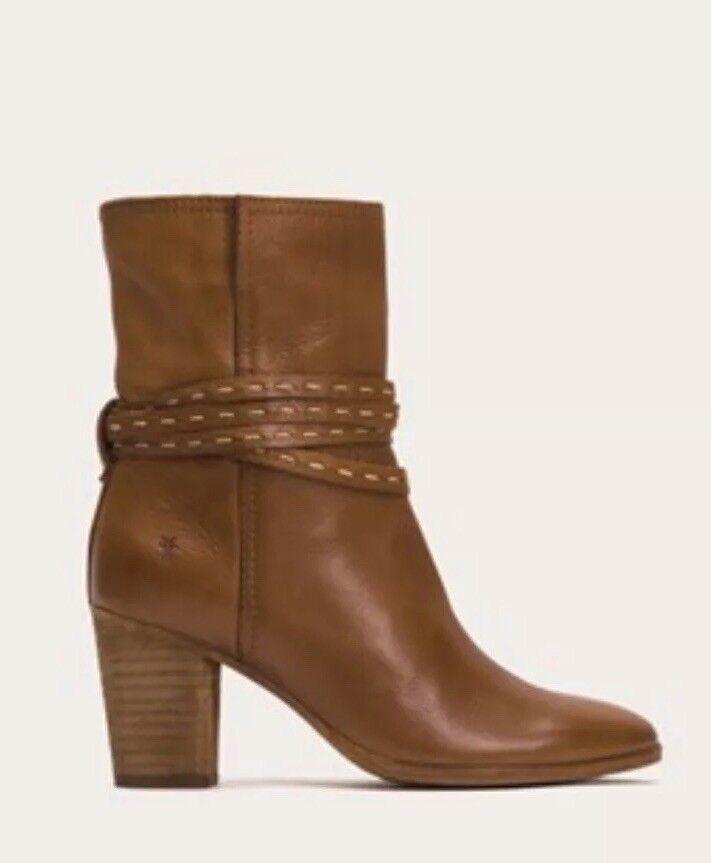 NWOB Frye Naomi Pick Puntada Mitad de Pantorrilla botas botas botas De Cuero Marrón De 3474681 - 5.5B  tiempo libre