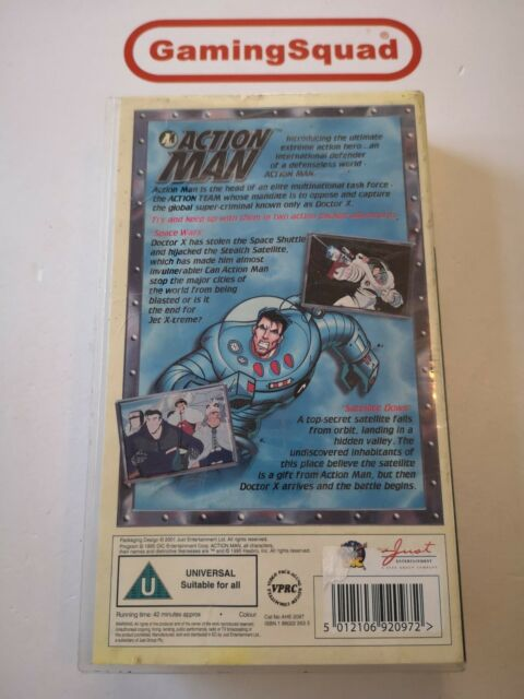 Action Man Space Wars VHS Video Retro Supplied by Gaming Squad
