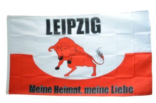 Drapeau FANFLAGGE Leipzig-Ma patrie mon amour Drapeau Football Hissflagge 90x