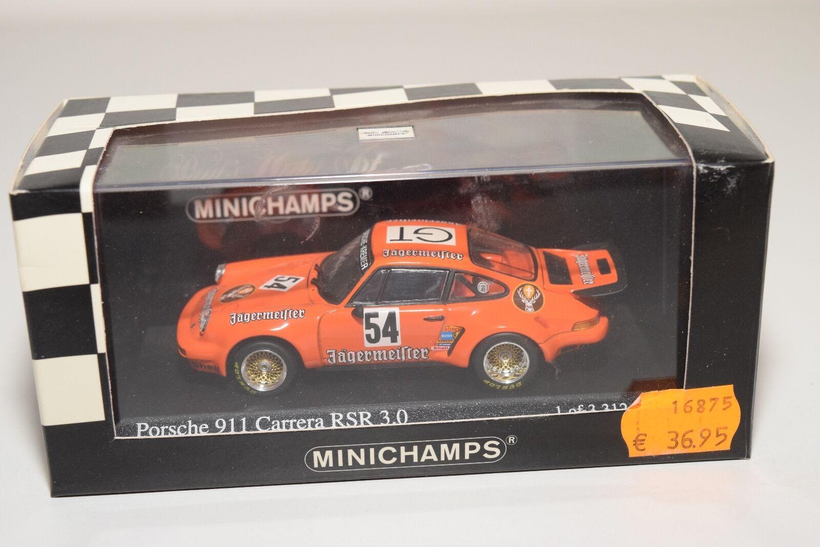 MINICHAMPS PORSCHE CARRERA 911 RSR ADAC 1000KM 2018 GT WINNER MINT BOXED RARE
