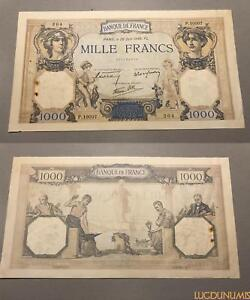 1000 Francs Cérès Mercure Type 1927 - 20/6/1940 P.10007 Sup Xbautmug-08003745-183893507