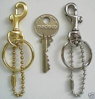 Two Brass / Nickel Mini Bolt Snap Clip Zipper Pull / Bag Charm / Key Clips - Edc