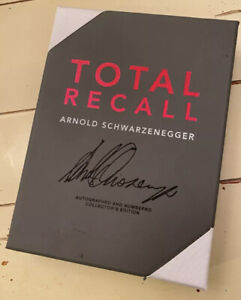 Total Recall Arnold Schwarzenegger Signed Specially Bound 1st Edition #313/1000