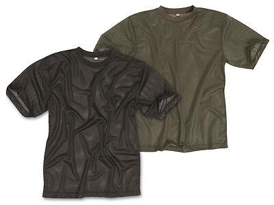 Mil-tec T-shirt Single Jersey Mesh-tessuti Jungleshirt Uomo Nero Oliva S-xxl-mostra Il Titolo Originale Rinvigorire Efficacemente La Salute