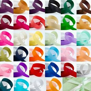 1m-Cut-Lengths-Double-Sided-Satin-Ribbon-3mm-6mm-10mm-16mm-25mm-38mm-Craft-Sew