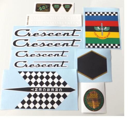 Crescent 1970s decal set Swedish