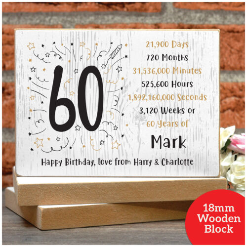 PERSONALISED 21st 30th 40th 50th 60th 70th Birthday Gifts for Him Her Dad Mum