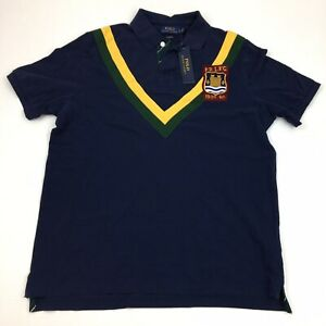 Polo-Ralph-Lauren-Men-039-s-Short-Sleeve-Polo-Shirt-PRLFC-Patch-Blue-Large
