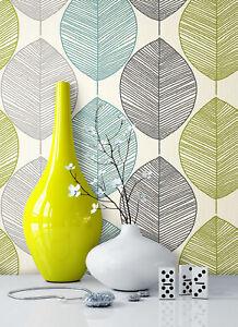 NEWROOM-Blumentapete-Papiertapete-Grau-Gruen-Tuerkis-Blumen-Natur-Grafik-Grau-Gruen