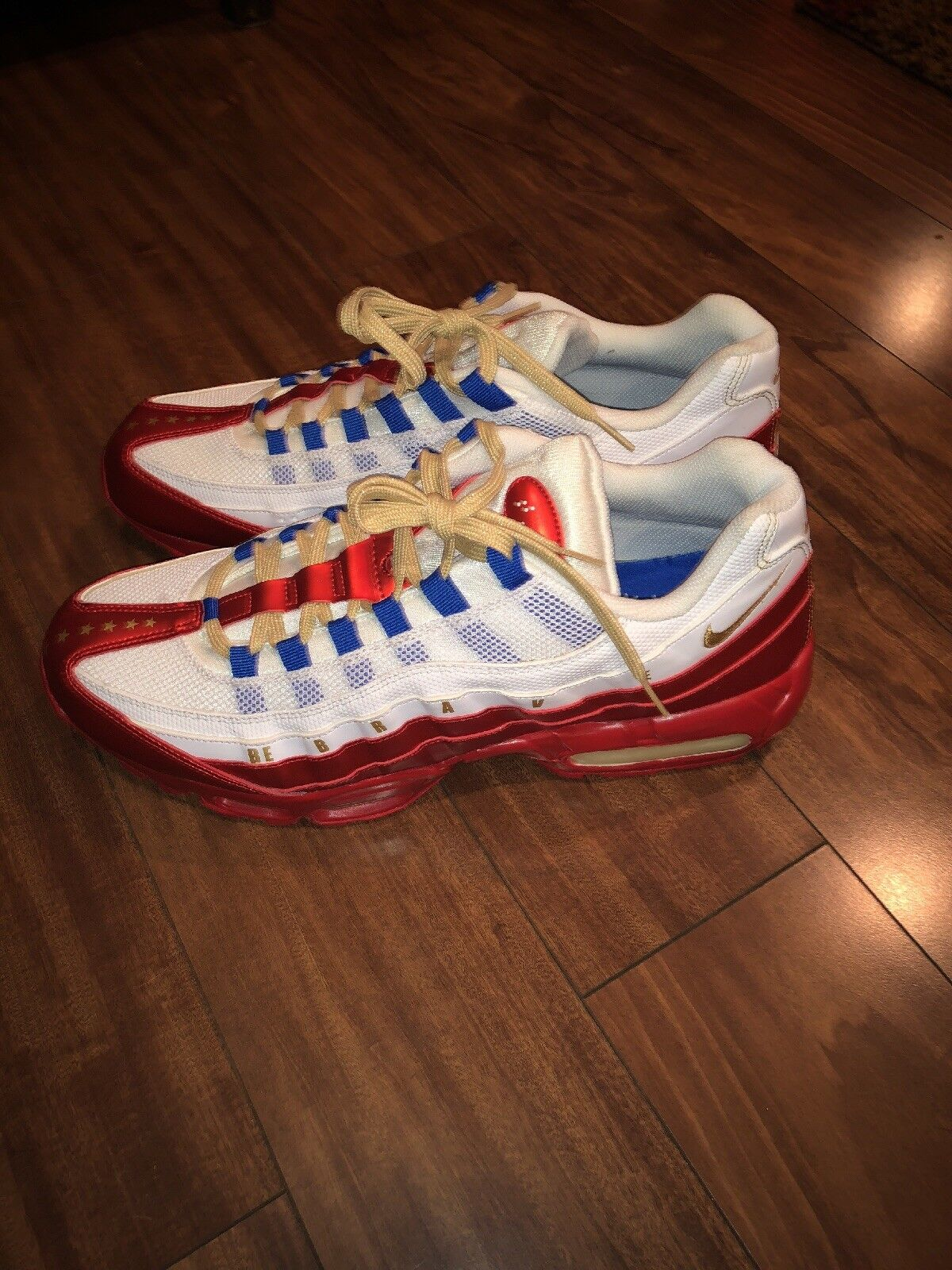 Vintage  New Nike shoes Air Max 95 LE Doernbecher gold Mens US Size 15