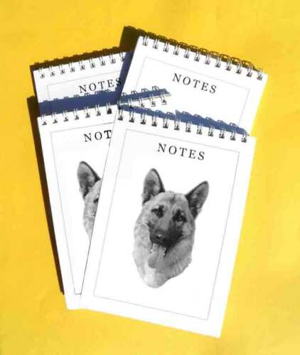 A6 Dog Notepads Gift Set Alsatian German Shepherd Pack of 4