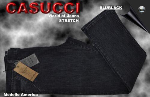 JEASNS STRETCH CASUCCI MODELLO AMERICA BLUE BLACK MIS 53 55 57 59 61 63 65