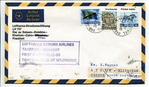2019 Nouveau Style Ffc 1966 Lufthansa Primo Volo Lh 737 - Dar El Salaam Entebbe Khartum Francoforte