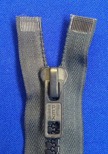 """ZIP NAVY OPEN ENDED 8 36CM 14/"""" WEIGHT NON RUST METAL SLIDER PLASTIC TEETH CHUNKY"""