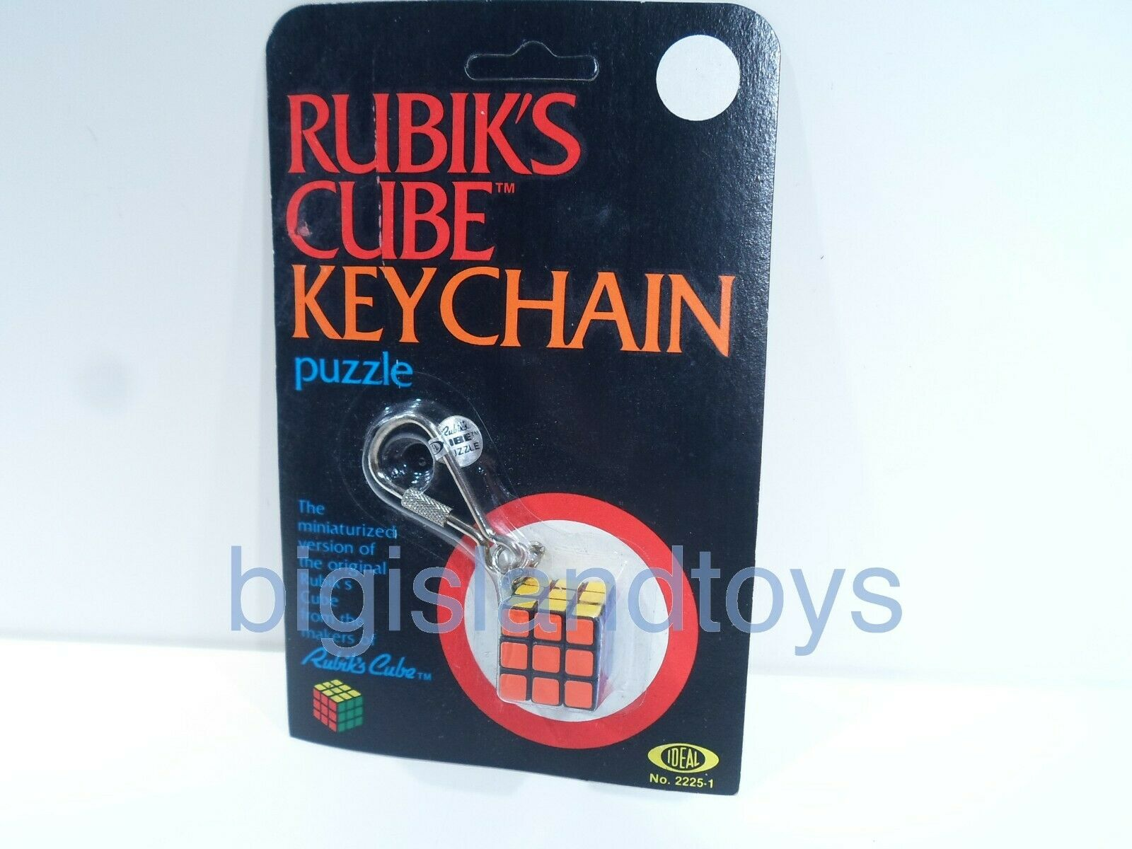 Vintage The Original Rubik's Cube Keychain Puzzle New Factory Sealed 1982 Ideal