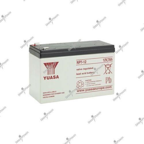 Batterie solaire plomb étanche YUASA NP7-12 12V 7AH 151X65X97.5