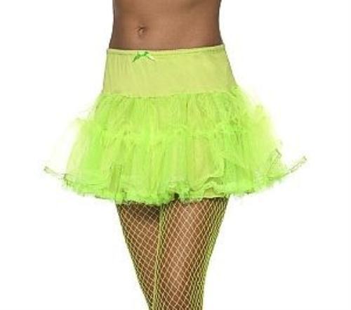 Neon Green Tulle Petticoat Crinoline Underskirt 80/'s Costume Accessory