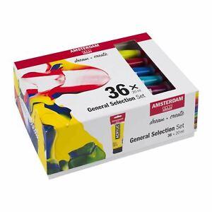 Amsterdam-Acrylic-Paint-Assorted-Colour-Selection-Set-36-x-20ml