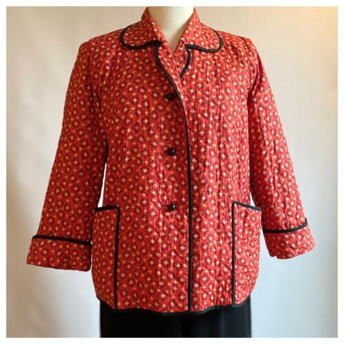 50s Textron Bandana Print Quilted Jacket Fits M/L