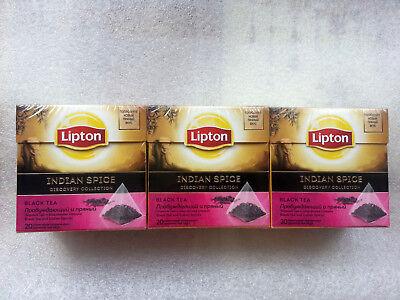 Black Tea Lipton Indian Spice 20 Pyramids X 3 Box Ebay