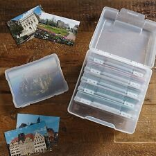 IRIS 5 x 7 Small Photo Storage and Embellishment Craft Keeper 4 Pack Clear