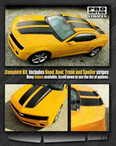 Chevrolet Camaro 2010-2015 Rally Racing Stripes Set with Roof Choose Color