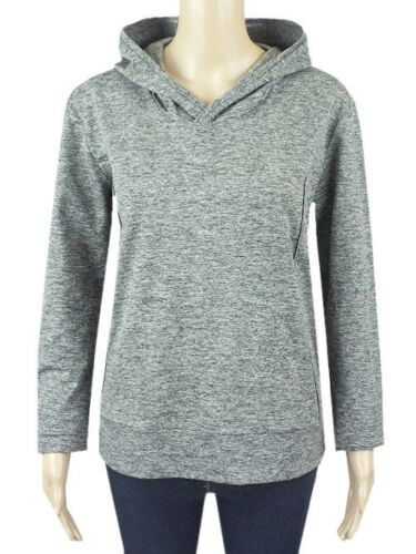 Ex M/&S Grey Long Sleeved Jersey Casual Top with Hood Size 10-24 Long Sleeve