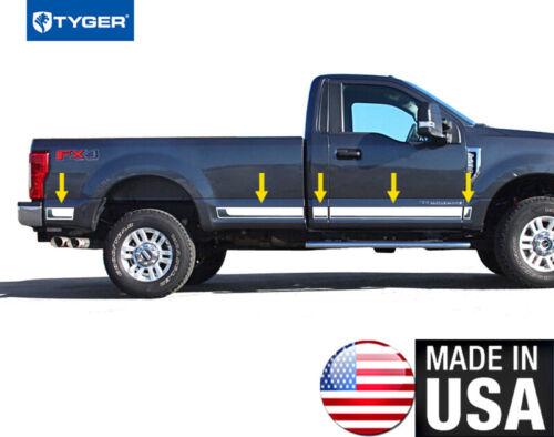 "TYGER Fits 2017 Ford SuperDuty Reg Cab Rocker Panel 8/' Bed BBL 4 3//4/"" 10PC"