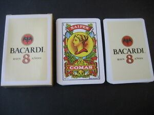 Deck-Commas-with-Advertising-of-Ron-Bacardi-8-Anos-Playing-Cards