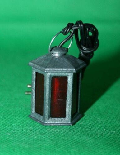 Crèches Accessoires Lanterne métal 6 rectangulaire connecteur e10 vitres rouge 4 CM H
