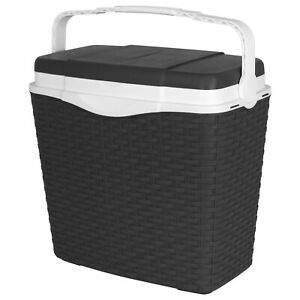 24L Kühlbox Rattan Thermobox Kühltasche Camping Picknick Isolierbox Warmhaltebox