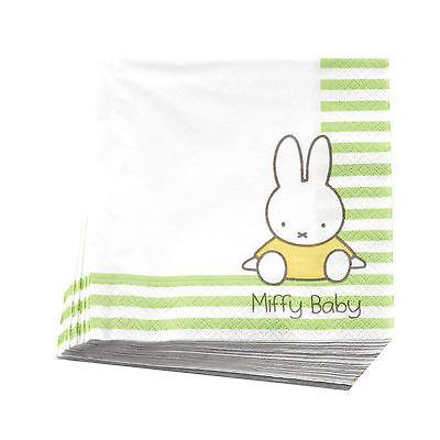 20 Miffy Paper Napkins Baby Shower Christening 1st First Birthday Celebration