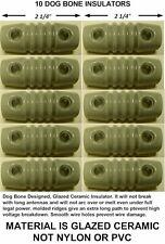 10 Dogbone Insulators For Dipole, Inverted V Antenna, Ham Radio, Shortwave