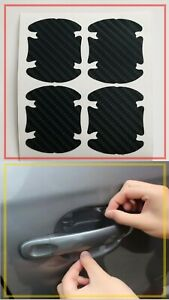 Pellicola-CARBON-LOOK-4D-protezione-maniglia-sportello-auto-graffi-tuning-Black
