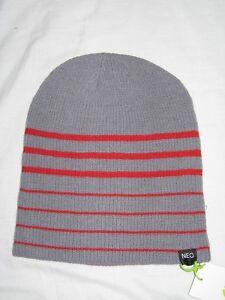 87b920160ca BNWT - ADIDAS NEO Rib Knit Reversible Slouch Beanie Hat Grey Red ...