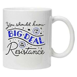 Star-Wars-You-should-know-I-039-m-a-big-deal-in-the-resistance-Novelty-Mug
