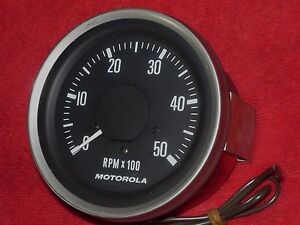 tachometer 5000 rpm 12 volt heavy duty motorola 12at05. Black Bedroom Furniture Sets. Home Design Ideas