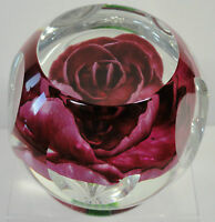 Selkirk Glass Rose Paperweight 1979 Ltd Ed. Cert. Peter Holmes PH Cane