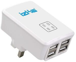 UK-Mains-Wall-3-Pin-Plug-Adaptor-Charger-with-4-USB-Ports-for-Phones-Tablets-CE