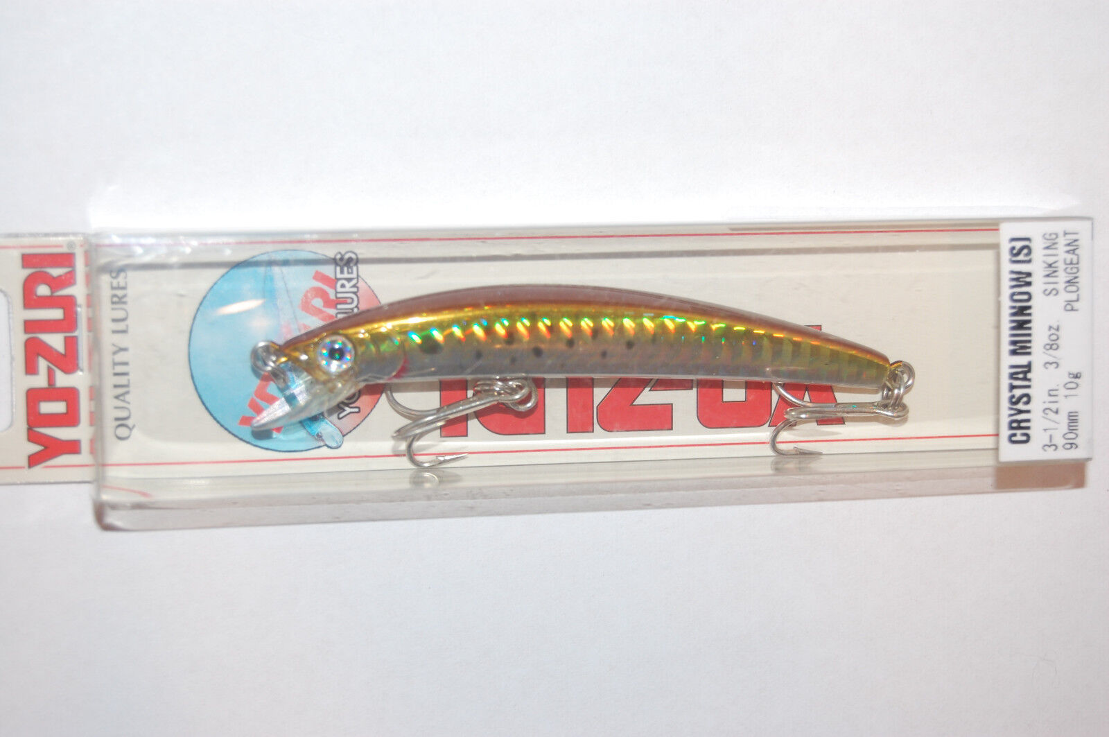 YO-ZURI CRYSTAL  MINNOW 90 FISH THE BEST SINKING 90mm 10g  COLOR F9-C27